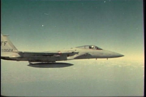 1980s - Air force training film teaches F15 jet pilots how and when to eject from an airplane.