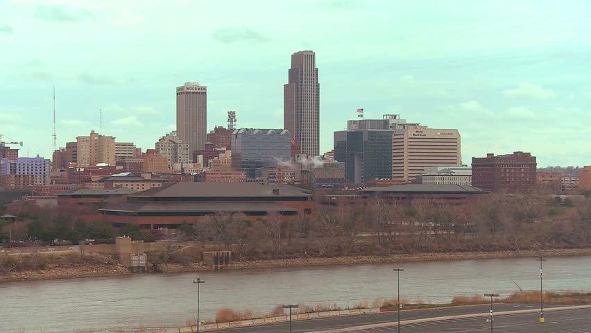 Omaha Nebraska skyline by day. | Shutterstock HD Video #4837904