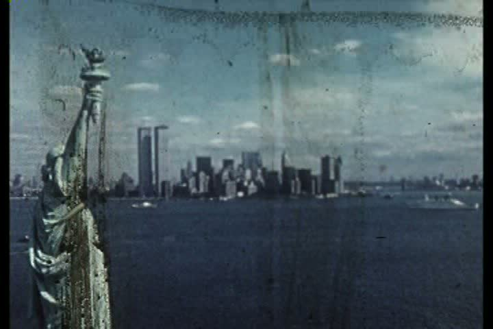 1970s - Silent footage of the World Trade Center shortly after it's completion in the 1970s.