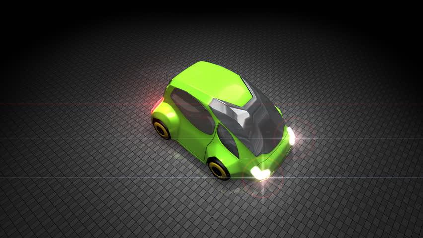 Green electric car. | Shutterstock HD Video #4871414