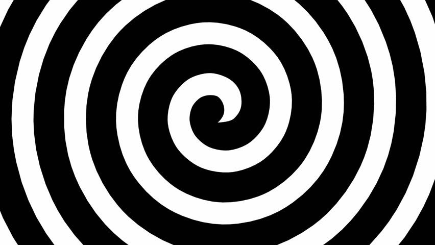 Black and white hypnosis spiral loop HD