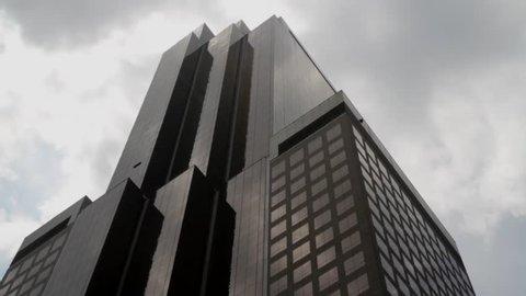 New York, NY - July 2013 - Manhattan exterior office building midtown. very slow minimal zoom.