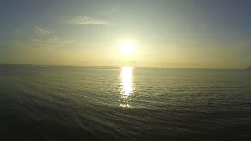 Sunrise over sea 360 degree rotate [HD]