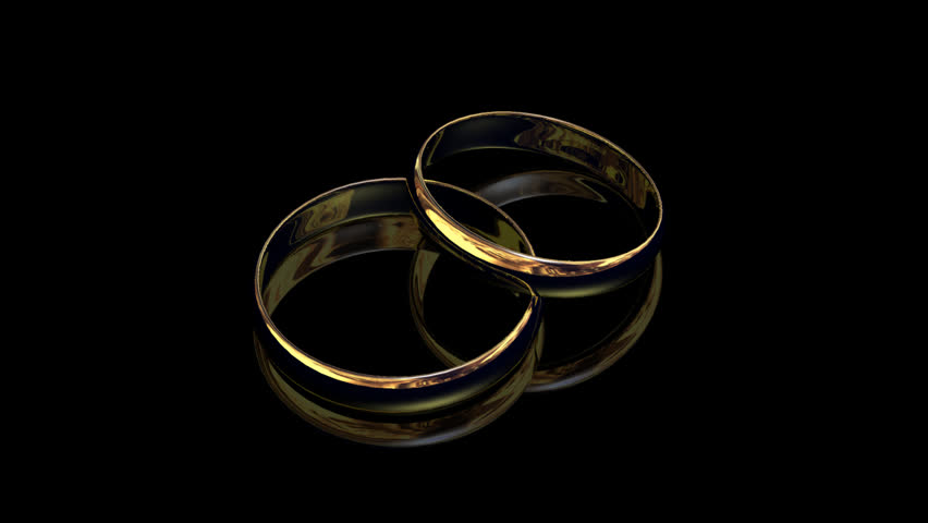 Stock Video Clip Of Two Wedding Rings On Black Background Shutterstock