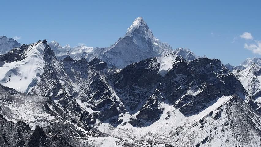 Mount Ama Dablam seen from Kala Patthar, Everest Region, Nepal.