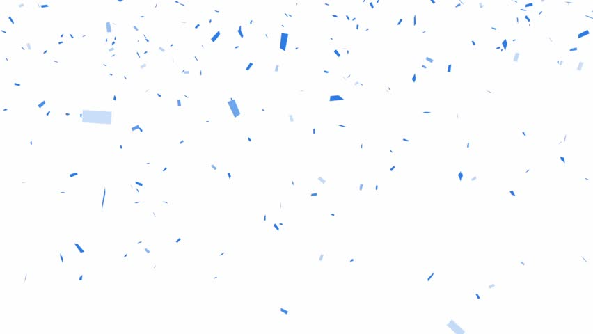 Blue Confetti - alpha channel included