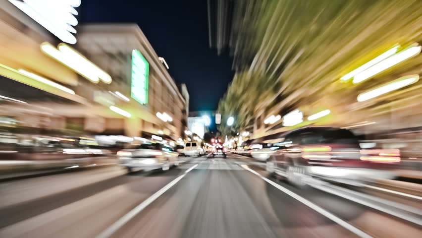 Portland City Driving 28 Time Lapse Effect. pov  #4968254