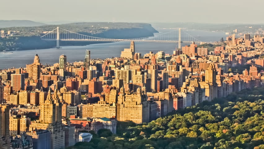 New York cityscape time lapse clip of upper west side. | Shutterstock HD Video #4973954