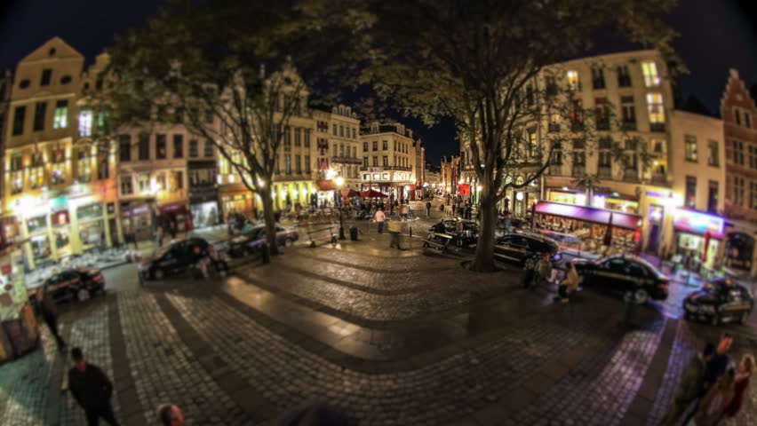 City pedestrian traffic time lapse of busy Brussels shopping area. | Shutterstock HD Video #4978604
