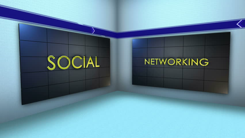 Social Network Keywords in Monitors and Room, Loop