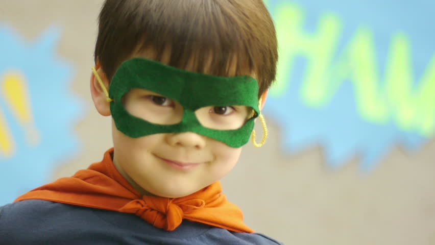 Superhero Boy Smiles For The Camera, Disappears   Shutterstock HD Video #4991654