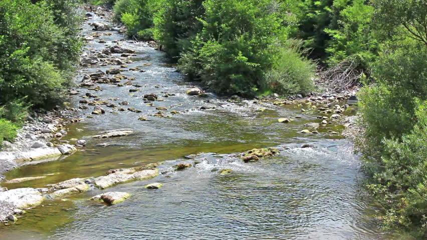 Mountain river, 2 clips