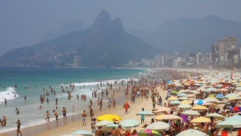 Ipanema Brazil- summer 2013: Ipanema beach, important point of sports in Rio de Janeiro.