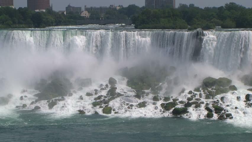 American Niagara Falls. Famous tourist landmark.