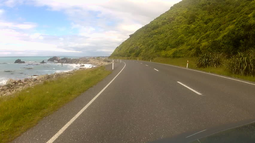 Drive along a coastal road. Just north of Kaikoura on the east coast of the