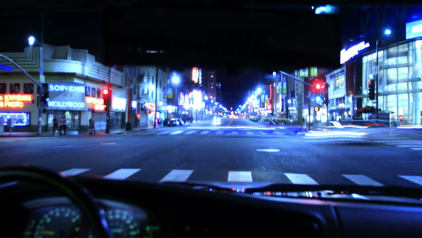 4K Intersection Traffic Timelapse 19 Loop Drivers View Hollywood Night | Shutterstock HD Video #5036234