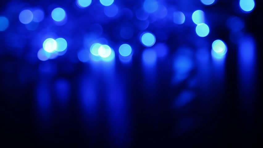 Defocused Blue Night Lights Stock Footage Video 100 Royalty Free