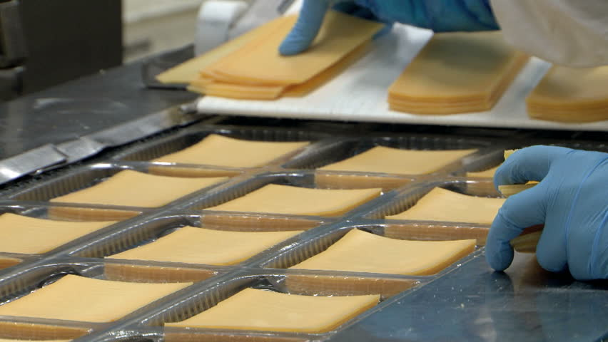 Food industry cheese packaging production line