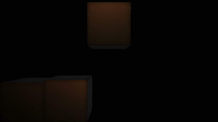 Happy New Year Gold Text in Falling Cubes | Shutterstock HD Video #5079194