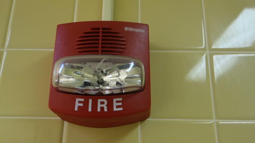 A fire alarm flashing. | Shutterstock HD Video #5096690