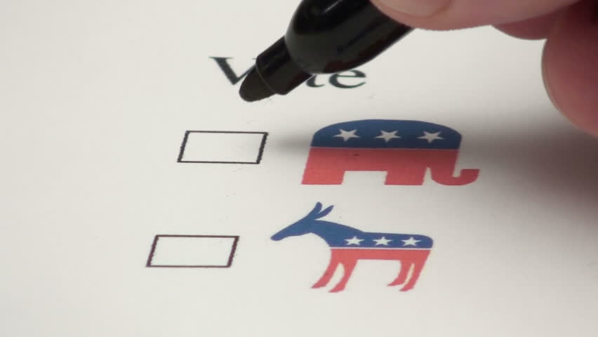 Voting for the republican elephant
