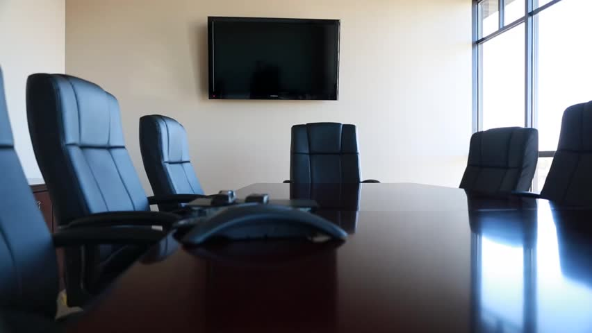 Chairs in a professional conference room