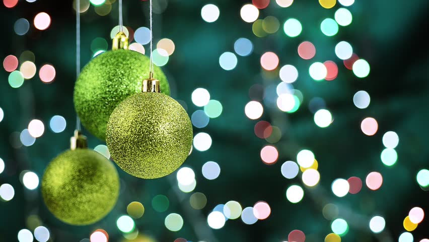 Christmas green ornaments