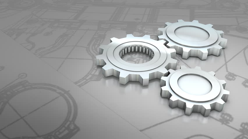 mechanical engineering background animation  stock footage
