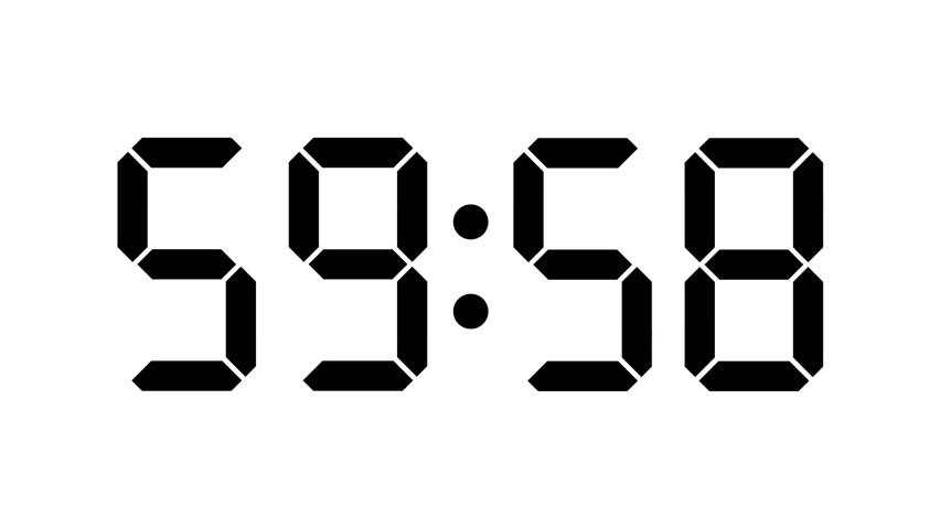 countdown of 24 hours  digital clock
