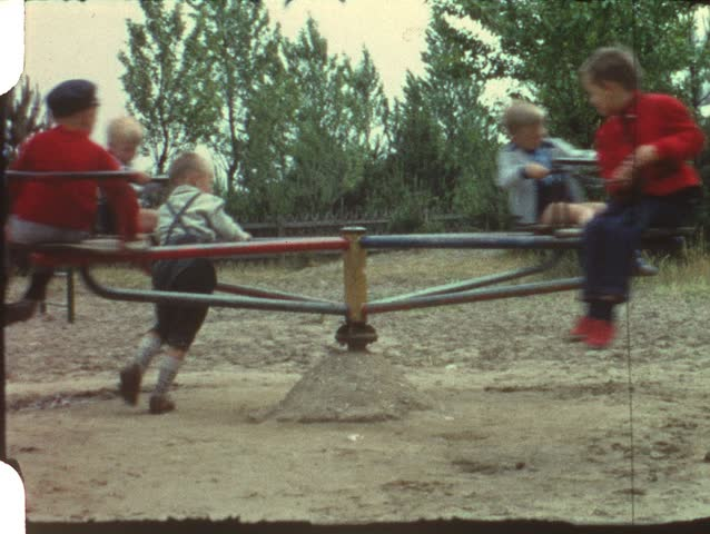 Merry-go-round (vintage 8 mm film)