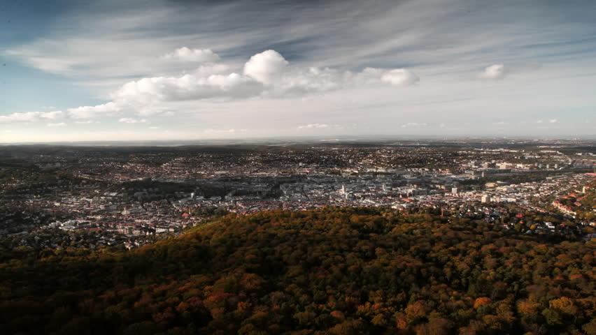 Stuttgart Cityscape, Timelapse, Germany