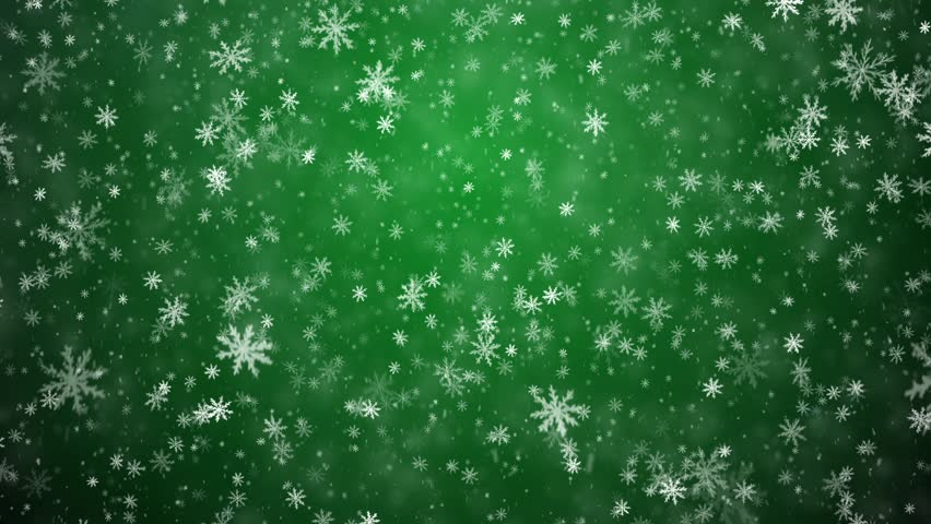 Christmas Green.Winter Christmas Background Falling Snowflakes Stock Footage Video 100 Royalty Free 5201714 Shutterstock
