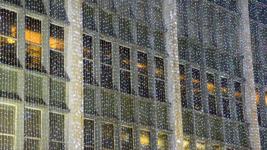 london christmas light decoration at Oxford street. holliday atmosphere