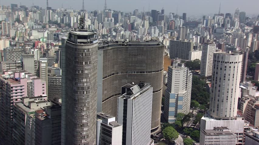 Downtown Sao Paulo, Brazil. Aerial View.