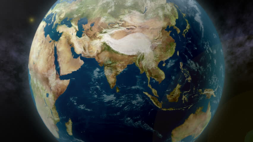 Earth zoom to India. Available in 4K Ultra HD.