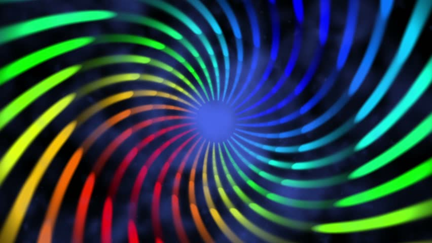 colorful hypnotic spiral iris vortex abstract motion background for use with