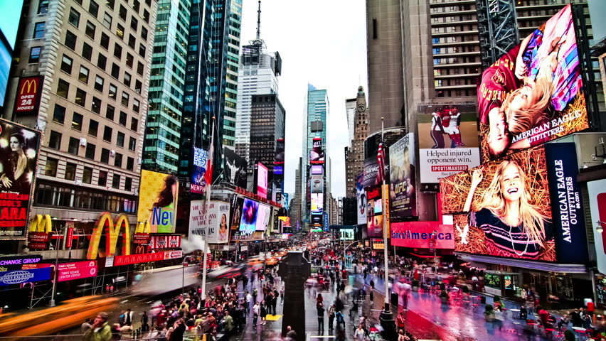 NEW YORK - OCT 14: Times Square time lapse on October 14th 2011. | Shutterstock HD Video #5263439