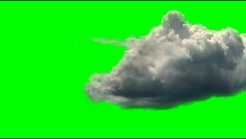 moving cloud clip animated green screen video background