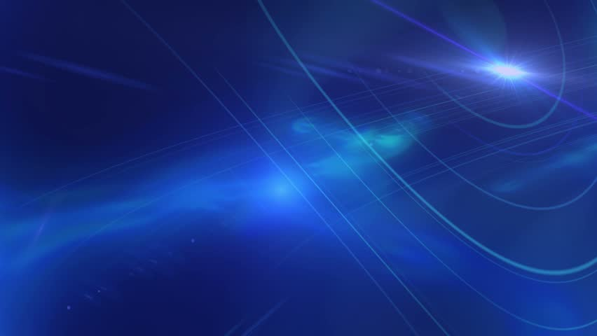 4K dark blue motion lens flares ambient abstract background