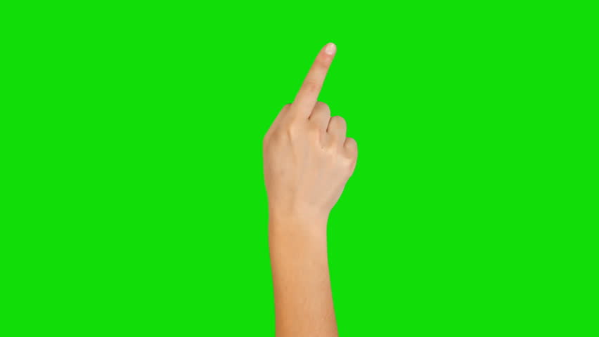 16 Hand gestures. Touchscreen. Female hand showing multitouch gestures in green screen. MORE OPTIONS IN MY PORTFOLIO. | Shutterstock HD Video #5304794