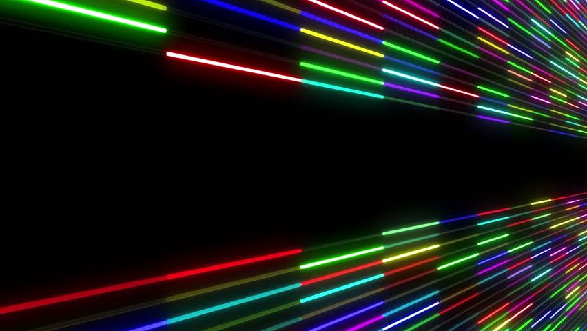 Neon Tube illumination wall abstract background. | Shutterstock HD Video #5311574