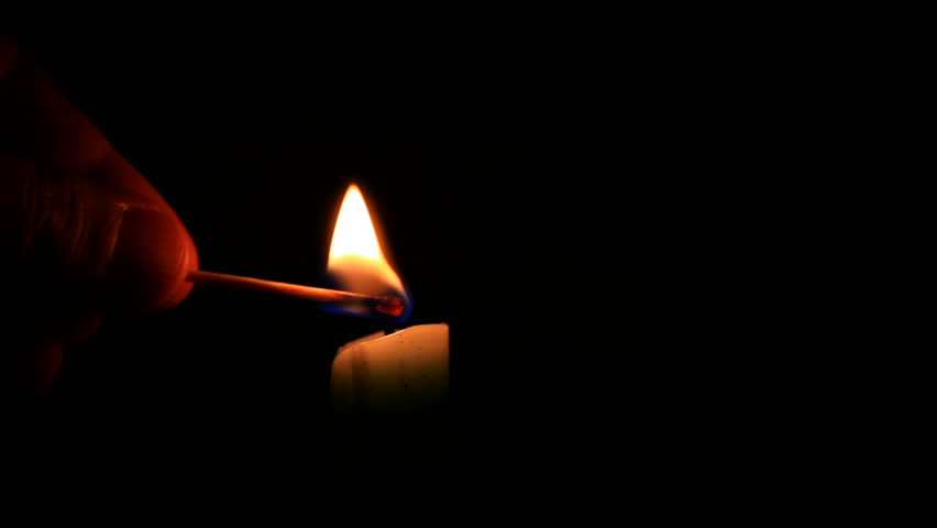 Fire candle with match black background - HD1080P - HD stock footage clip & Lighting A Match Slow Motion. Close Up. Stock Footage Video ... azcodes.com