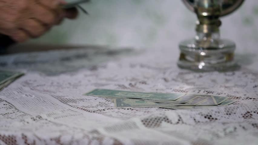 Paying in money bills   Shutterstock HD Video #5350625