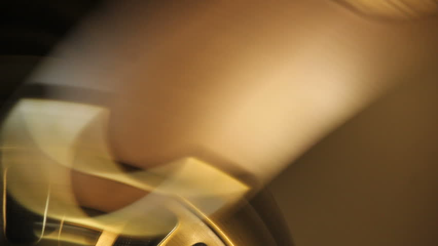 closeup abstract view of rotating ceiling fan #5350934