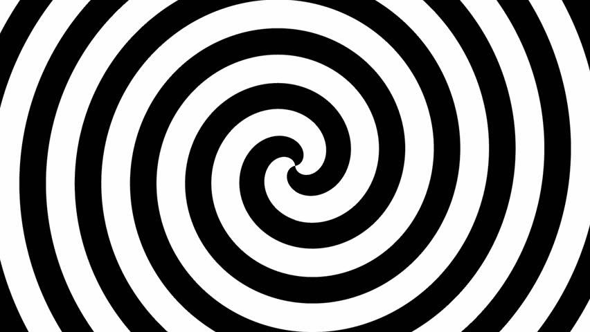 Black and white hypnosis circle (seamless loop) HD 1080p
