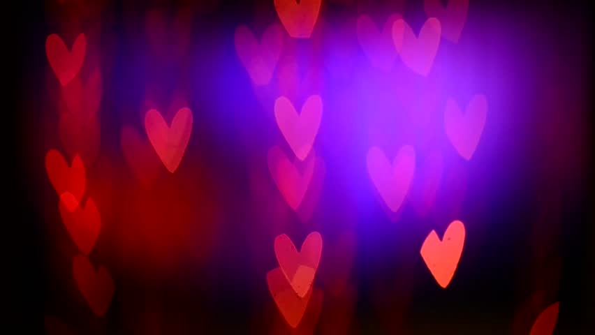 Bokeh Heart Shape Of Light Background Stock Footage Video: Valentine's Day Background. Holiday Blinking Abstract