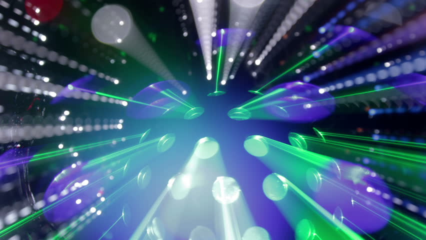 Fancy Club Light Effects In A Dark Background Stock: Dust Particle Light Tunnel Stock Footage Video 11274575