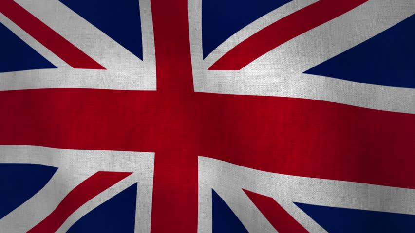 Union Jack Flag Background Textured (Loop-able)