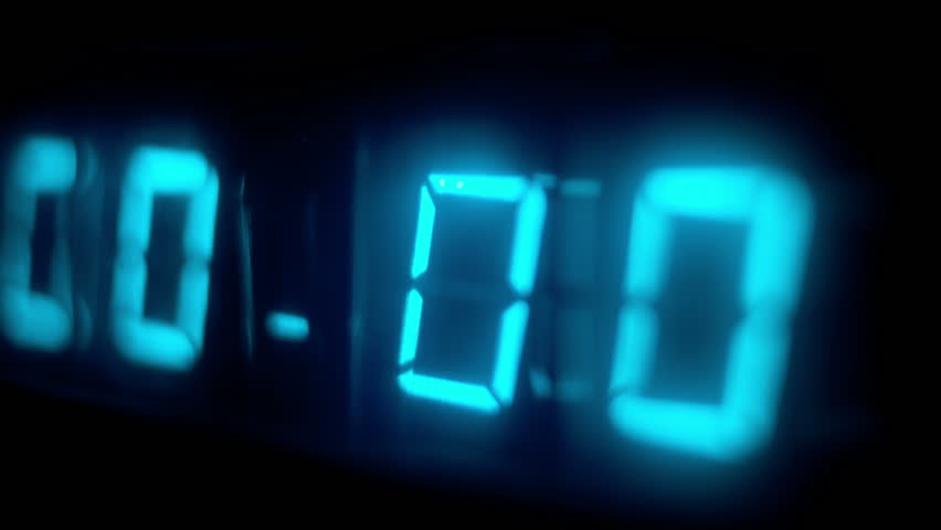 Numerical digital display made from an LED clock counter. this is a super high quality 4k version at 4096x2304 pixels | Shutterstock HD Video #5406854