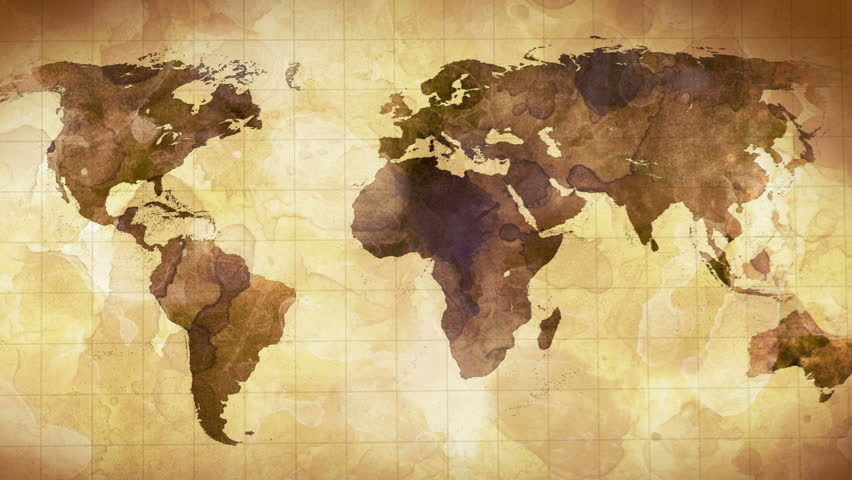 Grunge stained map of the world computer generated seamless loop vintage grunge world map animation hd stock video clip gumiabroncs Gallery
